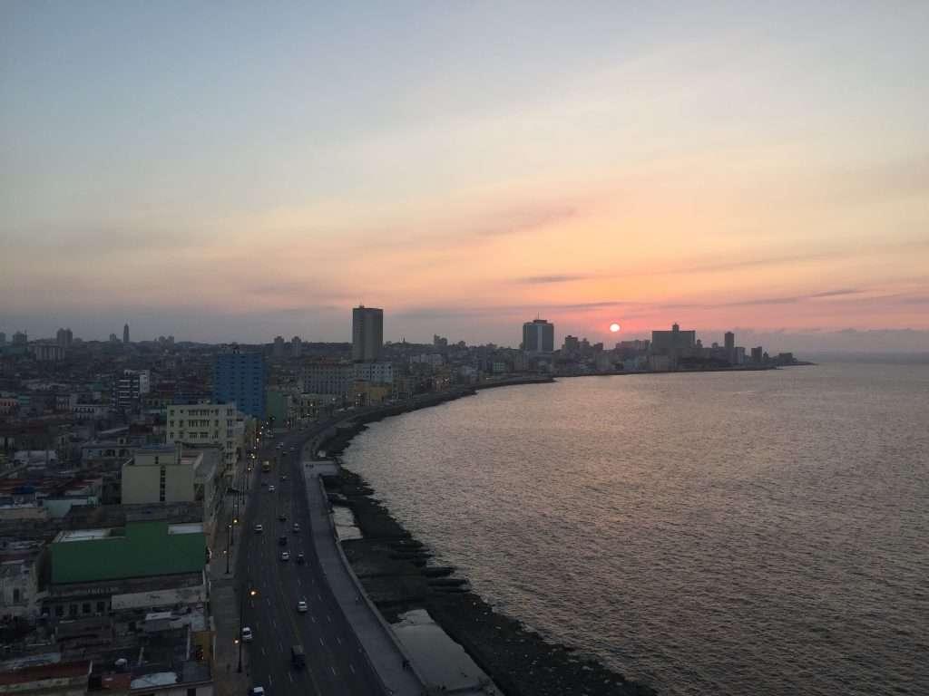 Nice sunset over the Malecon in Havana, Cuba by Ralph Velasco