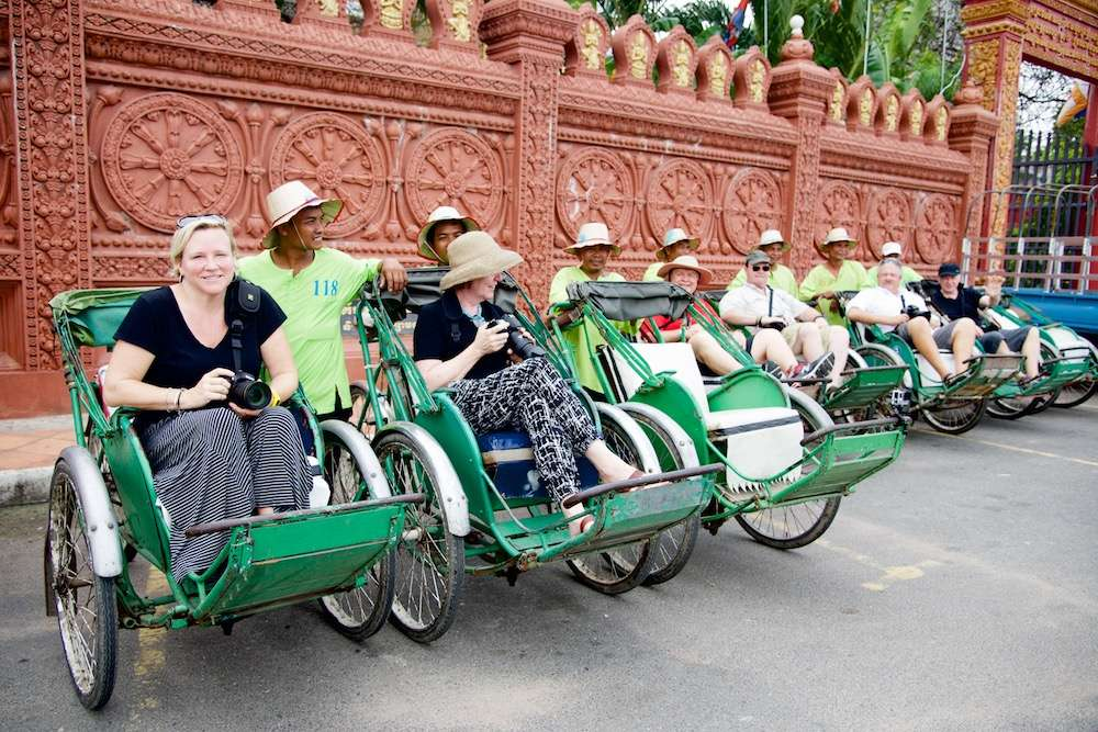Our group on cyclos in Phnom Penh, Cambodia by Ralph Velasco