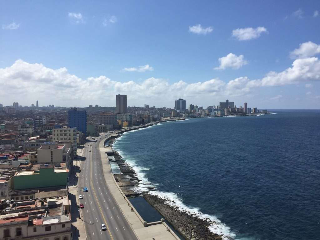 Midday Clouds Over Malecon - Havana, Cuba by Ralph Velasco