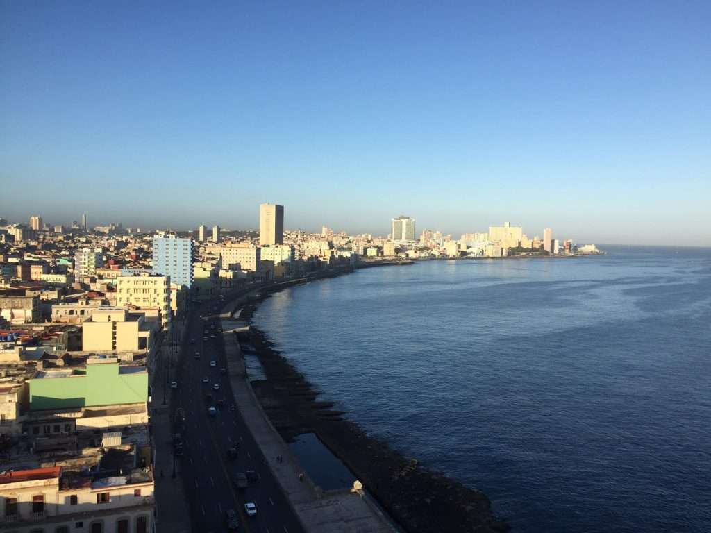 Zero Clouds in Morning Over Malecon - Havana, Cuba by Ralph Velasco
